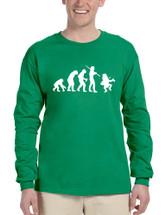 Men's Long Sleeve Irish Evolution Leprechaun St Patrick's Shirt