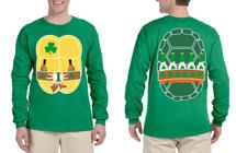 Men's Long Sleeve Irish Ninja St Patrick's Day Cool Shirt