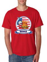 Men's T Shirt Fast Food 'merica Love America USA Top