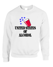 Adult Sweatshirt United States Of Alcohol 4th Of July Top