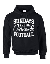 Adult Hoodie Sundays Are For Jesus And Football Love Funny