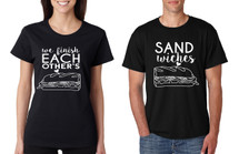 Couple T Shirt We Finish Each Other's Sandwiches Love Couple Tops