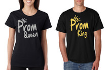 Couple T Shirt Prom Queen King Gold Silver Cool Prom Tees