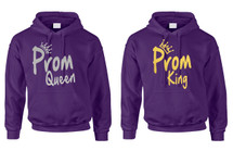 Couple Hoodie Prom Queen King Gold Silver Cool Nice Prom Tops