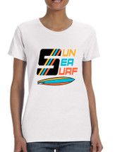 Women's T Shirt Sun Sea Surf Lover Summer Tee Beachwear