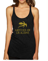 Women's Tank Top Mother Of Dragons Gold Print Graphic Top