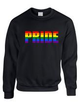 Adult Sweatshirt Pride Rainbow Colors Love Gay Lesbian Top