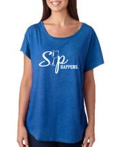 Women's Dolman Shirt Sip Happens Wine Lover Top