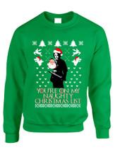 Adult Sweatshirt My Naughty Xmas List Arya Stark Ugly Christmas