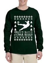Men's Long Sleeve Jingle Balls Soccer Ugly Xmas Sport Lover Shirt
