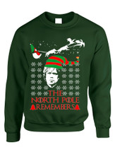 Adult Sweatshirt The North Pole Remembers Ugly Xmas Trendy Gift