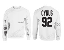 Miley Cyrus Tattoo Sweatshirt