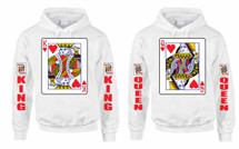 King and Queen couples gifts Hooded Sweatshirt