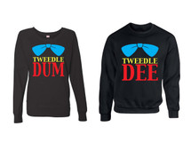 Tweedle dee Tweedle dum couples gifts 1 Sweatshirt & 1 Long Sleeve
