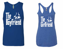 The boyfriend Jersey The girlfriend Tank top couples gift shirts