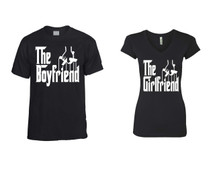 The boyfriend t shirt The girlfriend Sporty Tee couples gift shirts
