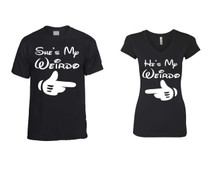 He is my Weirdo  t shirt  She is my Weirdo Sporty Tee couples gift shirts