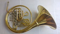 French Horn Hoyer 5812 in Yellow Lacquer with Gold Brass Lead Pipe