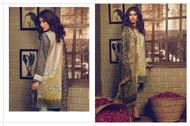 AlKaram Winter Premium Silk Velvet Collection Design - FW-17-Grey