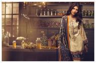 AlKaram Winter Premium Silk Velvet Collection Design - FW-23-Blue