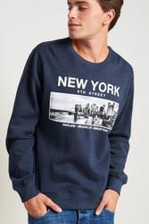 New York Sweatshirt by Fifth Avenue - Blue