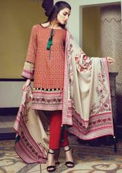 Alkaram Arch Splendor 3 Piece Resham Linen Collection - AW-03-RED