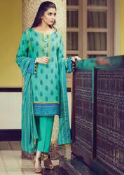 Alkaram Arch Splendor 3 Piece Resham Linen Collection - AW-04-GREEN
