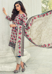 Imperial Grace 3 Piece Resham Twill Linen Collection - 09-GREY