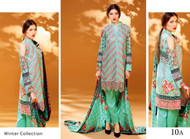 Ayesha Chottani Embroidered Linen Collection - 10A