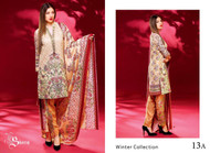 Ayesha Chottani Embroidered Linen Collection - 13A