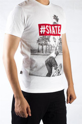 #skate T-Shirt by Fifth Avenue - White