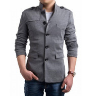 Men's Stylish Coat by Tee Tall - Grey