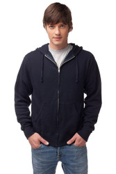 Classic Zip Hoodie by Fifth Avenue - Navy Blue