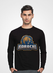 Karachi Kings Full Sleeve V-Neck T-Shirt by Tee Tall