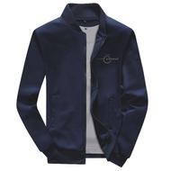 Fifth Avenue Fleece Bomber Jacket - Navy Blue
