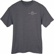 Fifth Avenue Charcoal Heather Melange T-Shirt with Logo