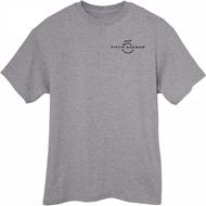 Fifth Avenue Heather Grey Melange T-Shirt with Logo