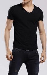 Black V Neck T Shirt by Tee-Tall