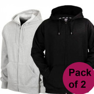 Pack of 2  Premium Fleece Zip Hoodies by Tee Tall