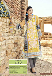 Irma Embroidered Chiffon and Lawn Design 345-A