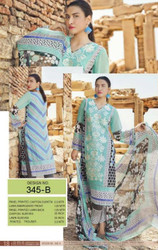 Irma Embroidered Chiffon and Lawn Design 345-B