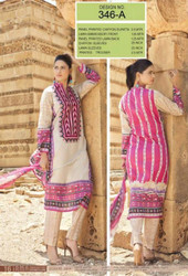 Irma Embroidered Chiffon and Lawn Design 346-A