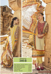 Irma Embroidered Chiffon and Lawn Design 346-B