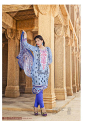 Irma Embroidered Chiffon and Lawn Design 348-A