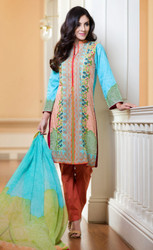 3 Piece Embroidered Suit by LSM Design GS-7B