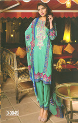 Colors Embroidered Lawn Collection D-004B