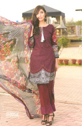 Colors Embroidered Lawn Collection D-005A
