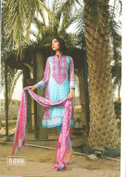 Colors Embroidered Lawn Collection D-0010B