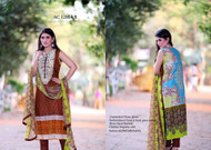 Amna's Collection Embroidered Lawn Design AC-12014B