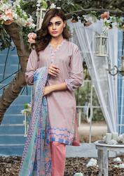 Al Karam LAWN 3 PIECE - PRINTED LAWN WITH CHIFFON DUPATTA Design SS-138-Pink